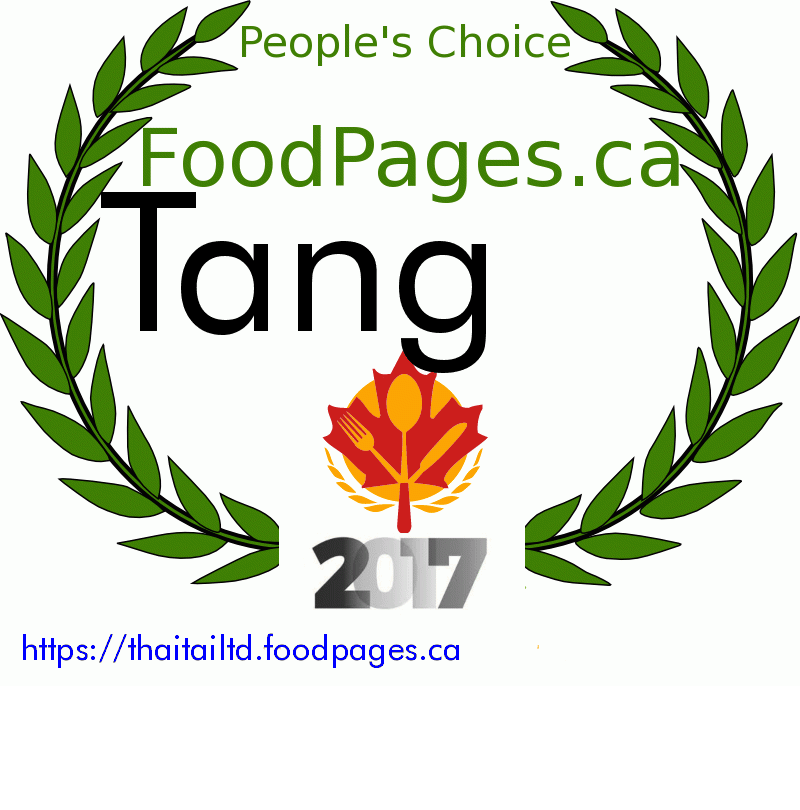 Tang FoodPages.ca 2017 Award Winner